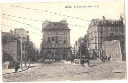 BREST  La Place Des Portes écrite TB - Brest