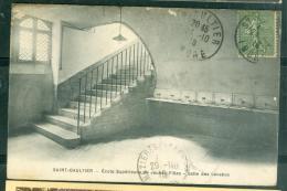 Saint Gaultier - école Supérieure De Jeunes Filles - Salle Des Lavabos  - Rad151 - France