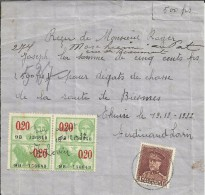 BELGICA RECIBO TEMA CAZA CON SELLOS FISCALES Y DE CORREO 1932 - Animalez De Caza