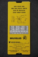 Expo '58 / Earth Satellite Guide - Index Pour Satellites Terrestre - Sateliet Omloop Gegevens / Sylvania International - Documents Historiques