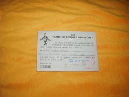 CARTE LES AMIS DE BONJOUR DIMANCHE DE 1947. MAILLON N°09598 / CACHET. - Unclassified
