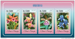 SAO TOME 2014 ** S/S 4v Orchids Orchideen Orchidees A1507 - Orquideas