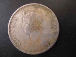 One Rupee India, Victoria, 1890, C II, No Dot, TTB+ - Colonie