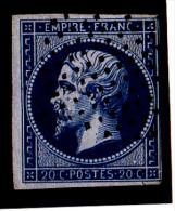 France N°14 - Obl. Cercle De Points. TB - 1853-1860 Napoléon III