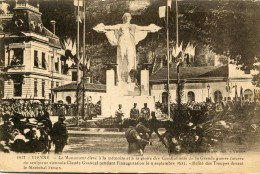 CPA 38 VIENNE MONUMENT ELEVE A LA MEMOIRE ET A LA GLOIRE DES COMBATTANTS DE LA GRANDE GUERRE - Vienne