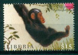 """Liberia 2000 """" Hors Série Feuillet : Chimpanzé Mnh*** - Monkeys"""