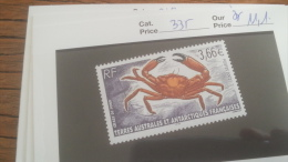 LOT 252874 TIMBRE DE COLONIE TAAF NEUF** N�335
