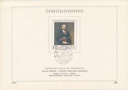 "Czechoslovakia / First Day Sheet (1974/18b) Praha: Vaclav Brozik (1851-1901) ""Portrait Of Frantisek Ondricek"" (1893) - Costumes"