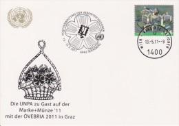 United Nations Show Card 2011 ´Övebria´ - November 2011 - Mi 689 UN Headquarters, Vienna - Centre International De Vienne