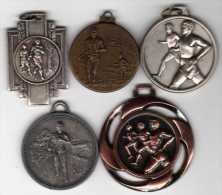 Lot De 5 Médailles Thème Marathon - France