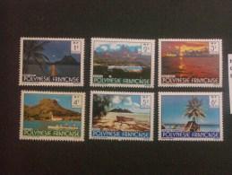 """POLYNESIE - FRANCAISE  *  *  De  1979   """"   Paysages  Divers   """"   N°  132  à  137        6 Val. - Französisch-Polynesien"""