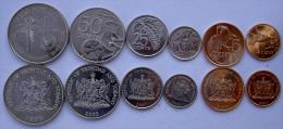 TRINIDAD & TOBAGO SERIE 6 MONETE 1 $ 50-25-10-5-1 CENTS FDC UNC - Trindad & Tobago