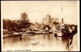 ANNECY.- Le Port Et Le Chateau - Annecy-le-Vieux