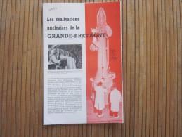 1958 Guide Dépliant Touristique De Grande Bretagne UK - GB - British Royaume Uni Angleterre Réalisations Nucléaires - Tourism Brochures