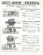 Agriculture/Société Anonyme PRATICA/ Batis De Scies/Brouettes  /Le Pratic/ Villefranche Sur Saône/Vers 1950 VP712 - Agriculture