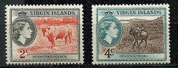 (cl 19 - P24) Iles Vierges** N° 115 - 117 (ref. Michel Au Dos) - Reine Elizabeth II, Taureau, Muletier Et Sa Mule -  Pri - British Virgin Islands
