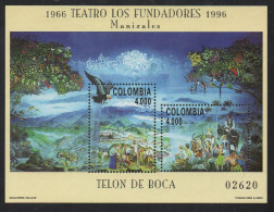 HF50-KOLUMBIEN / COLOMBIA.-S/S.- MI: BLOCK  51- 1996.- MNH .CV €: 30.00.-. TEATRO LOS FUNDADORES - Colombia
