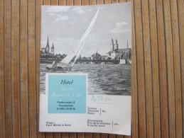 Aout 1960  Hôtel Savoy BAUR EN VILLE ZURICH  SUISSE HELVETIA Guide Dépliant Publicitaire Publicité - Dépliants Touristiques