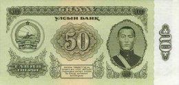 Mongolia 50 Tugrik 1966 Pick 40 UNC - Mongolia