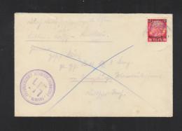 Generalgouvernement Polen Poland Brief Bezirkszollkommissar Wlodawa - Bezetting 1938-45