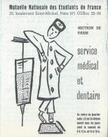 Dépliant 2 Volets /Mutuelle Nationale Des Etudiants De France/Service Médical Et Dentaire/Vers1960   VP718 - Cartes