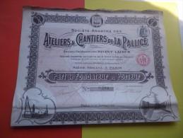 ATELIERS ET CHANTIERS DE LA PALLICE (fondateur) 1911 - Unclassified