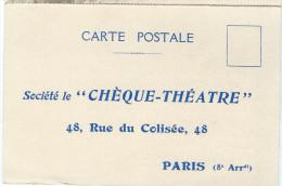 Chéque Théatre/ Carte Postale/ Demande D'admission Comme Abonné/Vers1950   VP719 - Cartes