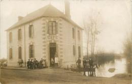 CARTE PHOTO CAFE   EDITEUR VASSELIER    LAC DE GRANLIEU ? BOUAYE  ST AIGNAN - France