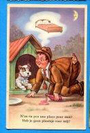 FR472, Fox Terrier, Chien, Dog, Clochard, Ivrogne, Il Rêve D'un Lit, 631, Fantaisie ,non Circulée - Humour