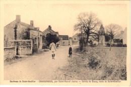 Environs De Saint-Gaultier - Chasseneuil, Par Saint-Marcel (Indre) - Entrée Du Bourg, Route De Saint-Gaultier - France