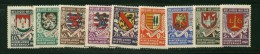 Belgium *SECOURS HIVER-SEALS  9 PROVINCES-9vals-1940-REICH WW2 OCCUPATION-Mint Hinged - Unclassified