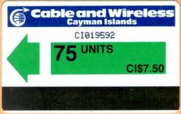 Cayman Island - CAY-AU-1, Green (control CI), 75 U, 50.000ex, 1986, Used - Cayman Islands