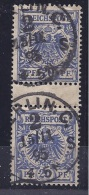 Germany1895:Michel 48b Gutter Pair With Clean And Clear Cancellation Cat.Value$132 - Oblitérés