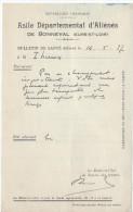 Bulletin De Santé/ Asile Départemental D'Aliénés/BONNEVAL/ Eure Et Loir/1937        VP724 - Non Classés