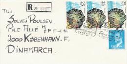 Registered    Cover Sent  To Denmark.   Spain  # 406 # - 1931-Aujourd'hui: II. République - ....Juan Carlos I