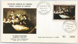 Cameroun 1970 PA 169 FDC Rembrandt La Leçon D'anatomie - Rembrandt