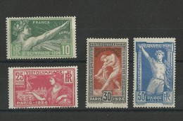 YVERT N°183/186 ** - COTE = 158 EUROS - JO De PARIS - - France