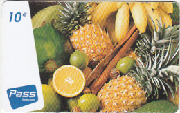 FRENCH CARIBBEAN & REUNION - Fruits, Outremer Prepaid Card 10 Euro, Tirage 25000, Used - Antillen (Frans)