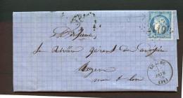 =*= Cérès 60A Belle Variété Sur Lettre AC Gros Chiffres 2119 Le Lude>>>Angers Bureau De Passe 2188 =*= =*= - Postmark Collection (Covers)