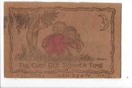 12202 - Carte En Cuir Leather Postcard The Geto Old Summer Time  Amoureux Au Clair De Lune - Couples