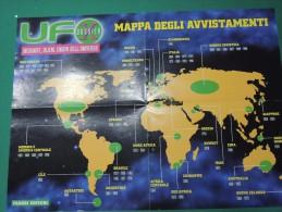 X UFO X DOSSIER POSTER UFO MAPPA DEGLI AVVISTAMENTI DIETRO TIPOLOGIE FORMAZIONI MANOVRE  ALIENI ENIGMI MISTERO - Manifesti