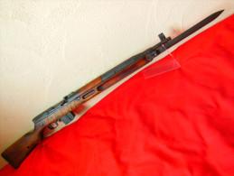 Fusil Carabine Tchèque Militaire Semi-automatique VZ52 VZ 52 De 1956 + Baionette Repliable Neutralisé St Saint Etienne - Decorative Weapons