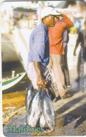 "MALDIVES ISL.(chip) - Beanng The ""fish"" Of Labour, CN : 0465, Used - Maldiven"