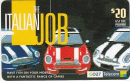 NEW ZEALAND - The Italian Job, Telecom New Zealand Prepaid Card $20, Exp.date 26/11/06, Used - Neuseeland