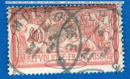 VARIÉTÉS FRANCE ANNÉE 1900 / 01    N° 119  TYPE MERSON  OBLITÉRÉ   3 SCANNE DESCRIPTION - Errors & Oddities