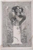 M.J.S. - Femme Art Nouveau Genre Mucha - .. (76779) - Autres Illustrateurs