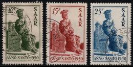 ~~~ Sarre  1950  - Pierre - Mi. 293/295  (o) - Cote 50.00 Euro ~~~ - Non Classés