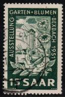 ~~~ Sarre  1951  - Jardins Et Fleurs Expo  - Mi. 307   (o) ~~~ - Non Classés