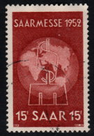 ~~~ Sarre  1952 - Marche De Saarbrucken  - Mi. 317 (o) ~~~ - Non Classés