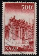 ~~~ Sarre  1952 - Cathedrale De Ludwig / Ludwigskirche 500 Francs  - Mi. 337 (o) - Cote 80.00 Euro  ~~~ - Non Classés